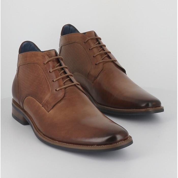 Kdopa chaussures de ville montante Brino en cuir camel pour