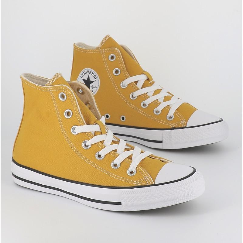 Converse montante chuck taylor all star hi jaune moutarde femme