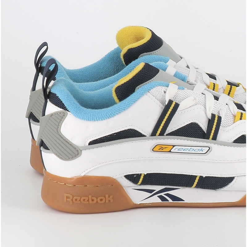 Reebok Workout plus rc 1.0 blanc bleu jaune