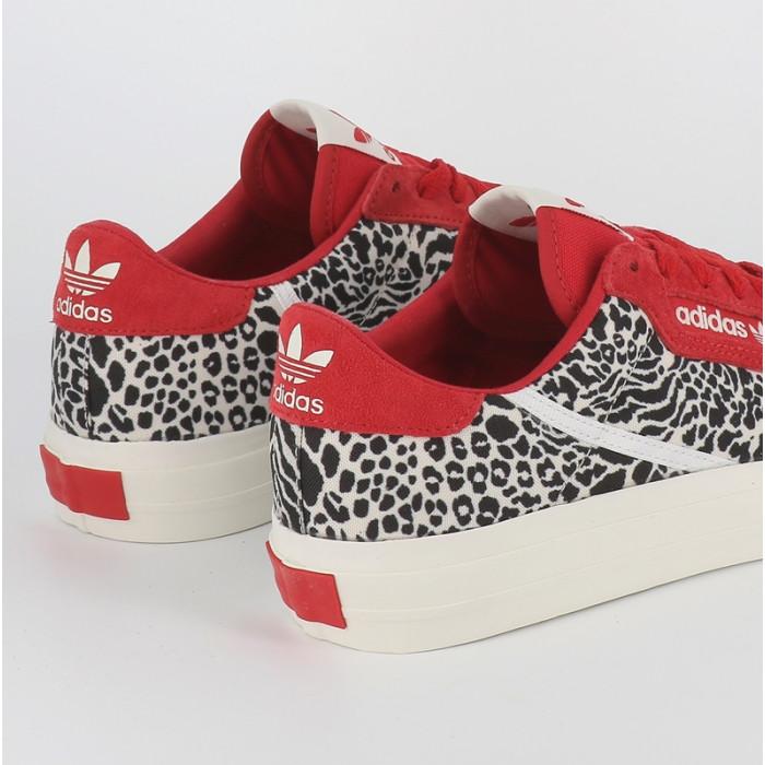 Adidas Continental Vulc 80 cuir rouge léopard femme