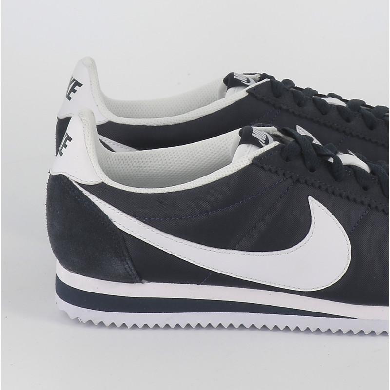 Nike classic cortez nylon marine blanc basket homme