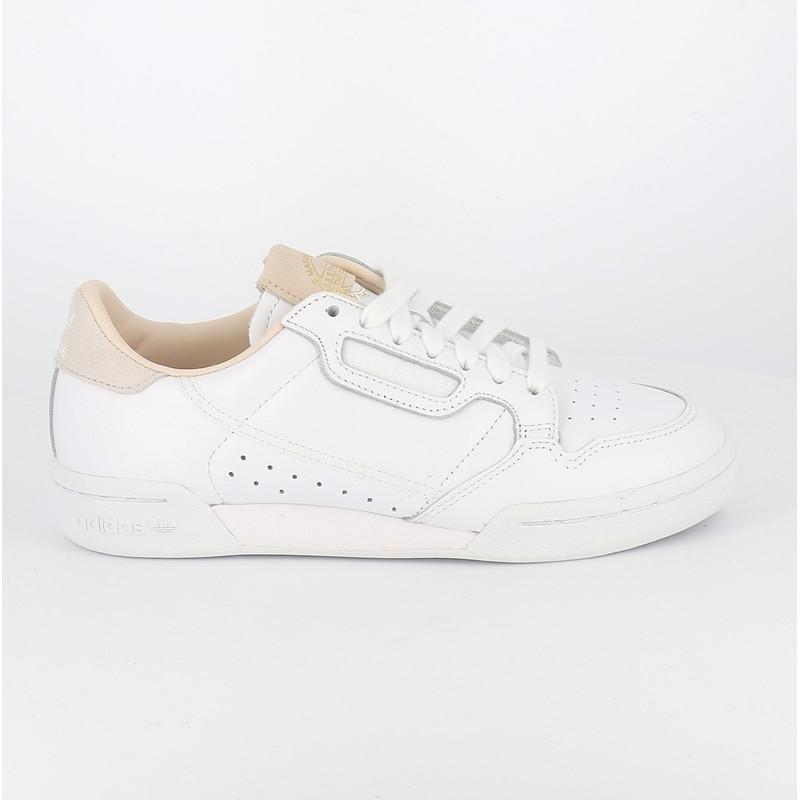 Adidas continental 80 home of classics blanc beige femme
