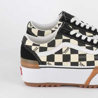 old skool stacked checkerboard