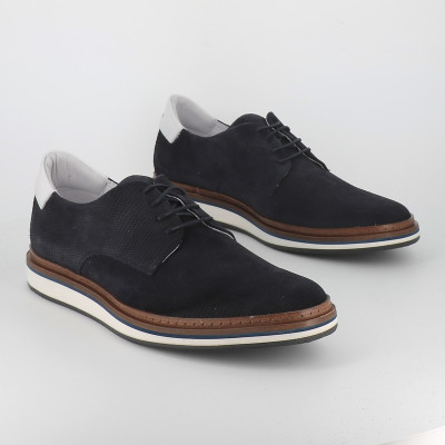 punch suede derby nappa