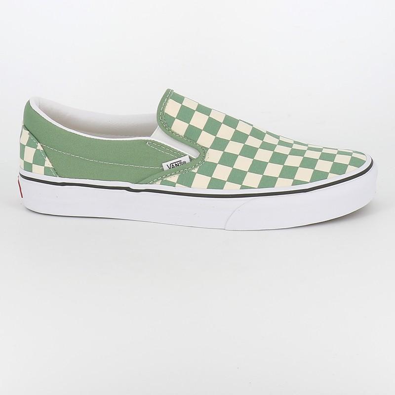 Vans Slip On Checkerboard vert d'eau - vans homme |Numéro 9 Urban ...