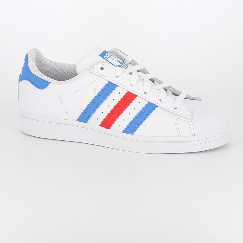 Adidas - Superstar blanc bleu rouge |Numéro 9 Urban shoes