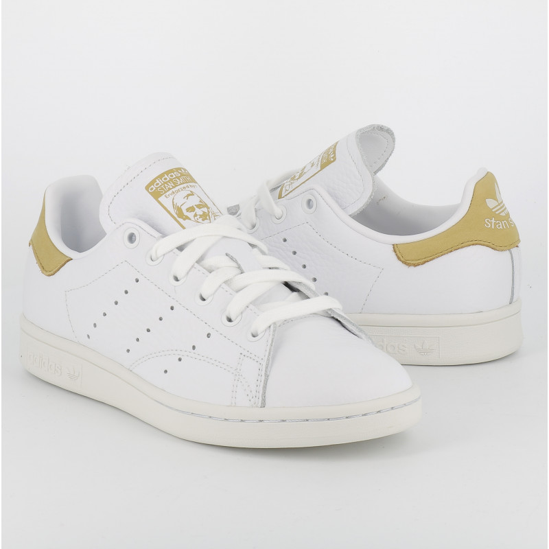 Stan Smith blanc jaune moutarde Adidas premium