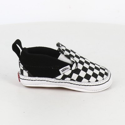 inf slip on v crib checkerboard