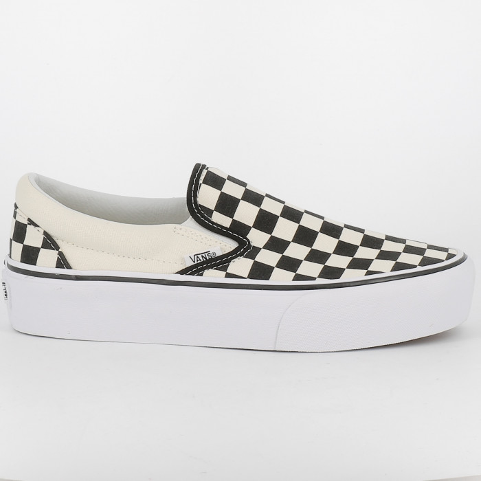 classic slip on platform checkerboard