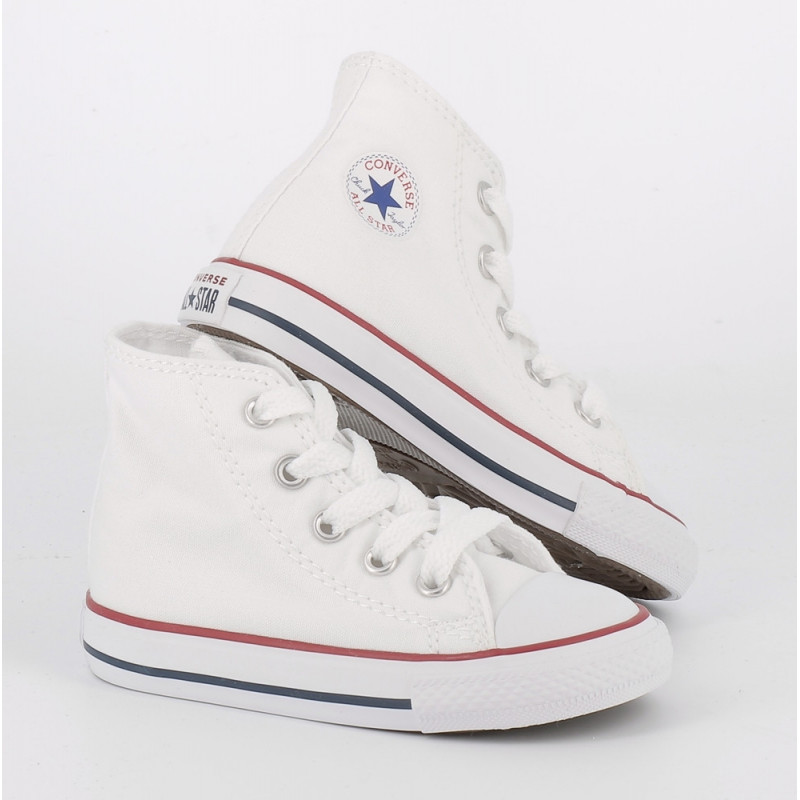 converse all star blanche montante enfant