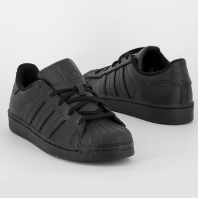 superstar jr - cuir - noir noir
