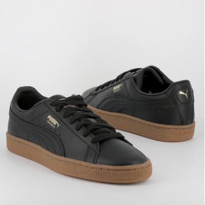 basket classic gum jr - cuir - n