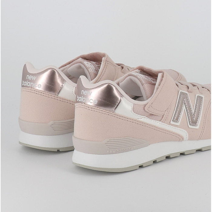 basket new balance fille rose